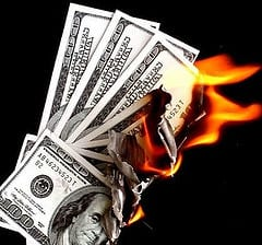CEO burning cash