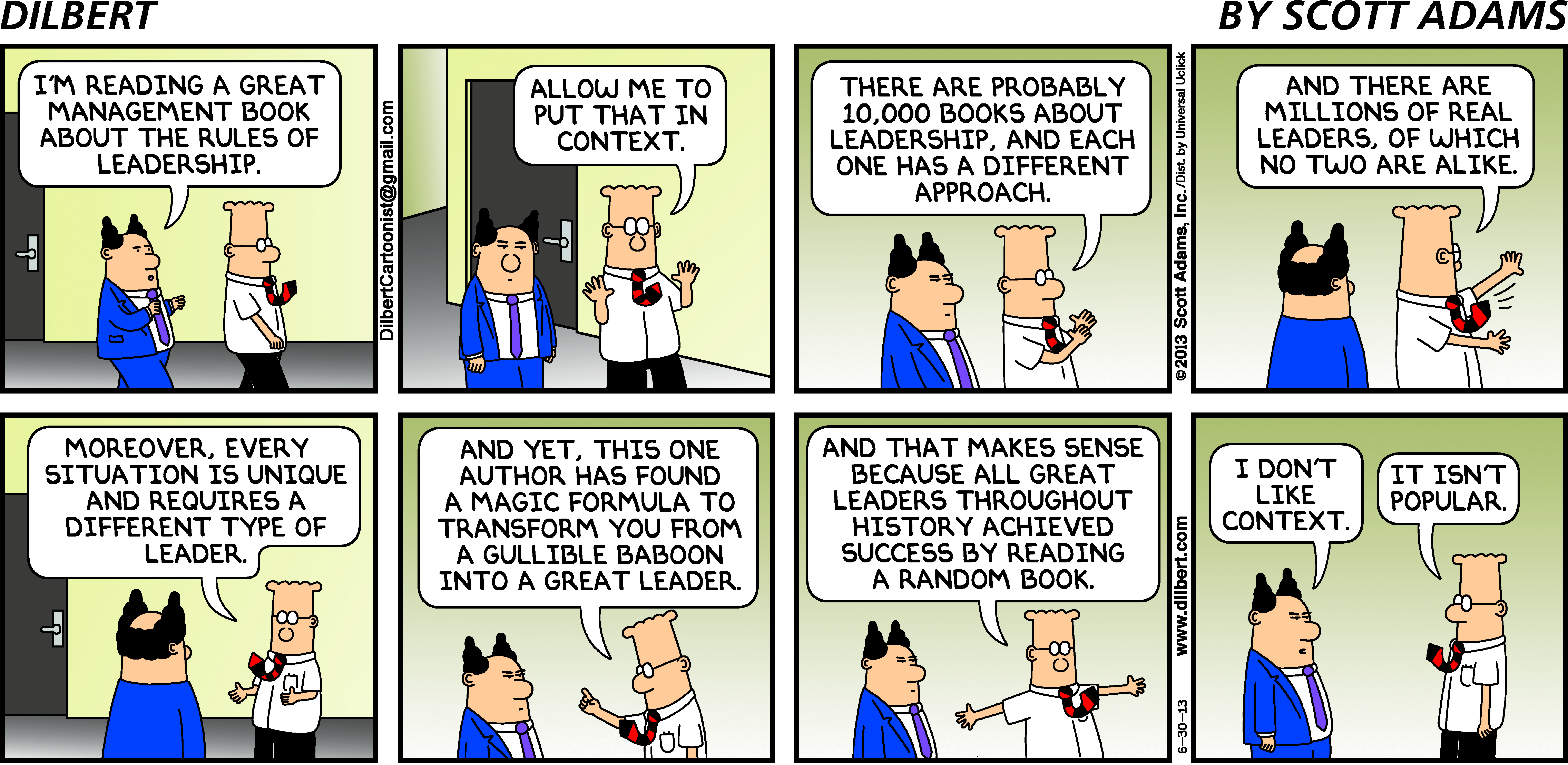 DILBERT © 2013 Scott Adams. Used By permission of UNIVERSAL UCLICK. All rights reserved.