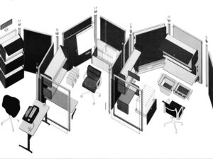 Action Office II's layout in 1968. Courtesy of Herman Miller